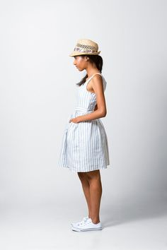 Sweet Gathered Sundress pattern, perfect for swanning about at that lazy brunch or afternoon tea! This Sweet dress has a fitted lined bodice,
