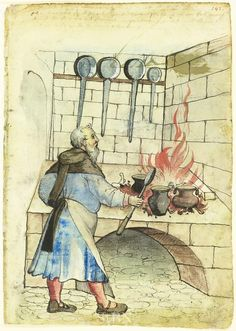 The Cook (pen and wash drawing) 1527, Heinrich Schlichting