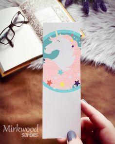 Pretty Pastel Unicorn Bookmark, Linen Paper Bookmark, Pink Glitter Unicorn Creative Bookmarks, Paper Bookmarks, Unicorn Kids, Unicorn Art, Pretty Pastel, Pink Glitter, As You Like, Baby Shower Invitations, Card Stock