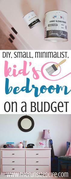 DIY Small, Modern, Minimalist Kid's Bedroom on a Budget - The Fun Sized Life Minimalist Living Tips, Minimalist Kids, Playroom Furniture, Kids Furniture, Painting Furniture, Home Decor Bedroom, Kids Bedroom, Bedroom Ideas, Lego Bedroom