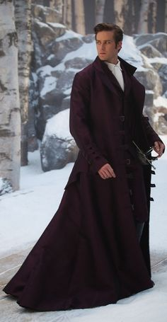 Armie Hammer. This photo just for that epic coat XD