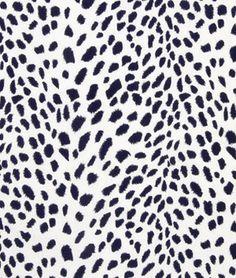 Robert Allen Leopard Path Navy Blazer Fabric