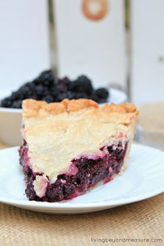 The Best Blackberry Pie. You will never have a pie as amazing as this!  NOTE: Too soupy. I tried to merge the recipe with another one that called for adding a bunch of non-sugared/floured berries to the top. Clearly my mix was off.