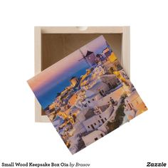 Shop Small Wood Keepsake Box Oia created by Brasov. Personalize it with photos & text or purchase as is!