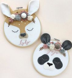 Diy Embroidery Patterns, Embroidery Hoop Crafts, Embroidery Hoop Art, Diy For Kids, Crafts For Kids, Arts And Crafts, Felt Toys, Felt Ornaments, Felt Flowers