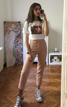 Teen Fashion Outfits, Edgy Outfits, Retro Outfits, Cute Casual Outfits, Simple Outfits, Look Fashion, Womens Fashion, Fashion Edgy, Unique Outfits