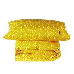 Kip & Co single duvet cover and pillowcase set - spots yellow Single Duvet Cover, Duvet Cover Sets, Home Bedroom, Bedroom Decor, Single Quilt, House Made, Quilt Cover, Pillow Set, Linen Bedding