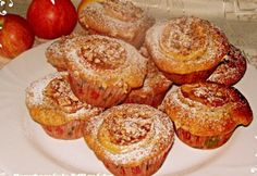 Almás muffin fahéjas dióval Muffins, Good Food, Goodies, Baking, Breakfast, Polish, Cakes, Kitchens, Hungarian Recipes