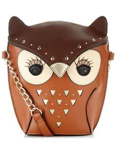 Ibiza Yenzi Across Body Bag - Cute Owl Handbag Brown Crossbody Purse, Crossbody Shoulder Bag, Shoulder Handbags, Cute Purses, Purses And Bags, Owl Clothes, Owl Purse, Owl Bags, Felt Owls