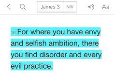 James 3:16 (NIV)