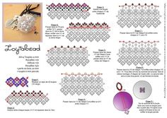 Beaded Bead Pattern - Free - Linked from Bead Magic to French website - PDF can be found on this page - Is in French but diagram creates easy to follow instructions visually