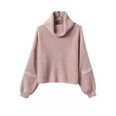 SheIn(sheinside) Turtleneck Zipper Khaki Sweater ($22) ❤ liked on Polyvore featuring tops, sweaters, khaki, turtle neck sweater, zipper top, zipper sweater, brown sweater and turtle neck tops