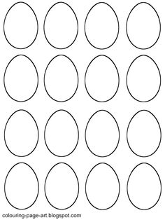Blank Easter Egg Coloring Pages Archives