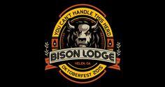 Bison Lodge Beer Label | Logo Design | The Design Inspiration