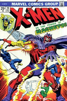 X-Men vol 1 #91 | Cover art by John Buscema, George Tuska, Sam Rosen & Annette Kawecki