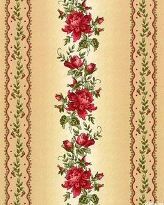 Line Flower, Flower Art, Fabric Wallpaper, Pattern Wallpaper, Decoupage Vintage, Paper Crafts, Diy And Crafts, Vintage Roses, Vintage Cards