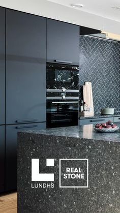 Discover the authentic design and exceptional qualities of Lundhs Real Stone, crafted for the modern home. bathroom decor diy Unique Norwegian Stone for the Kitchen from Lundhs Kitchen Room Design, Modern Kitchen Design, Living Room Kitchen, Home Decor Kitchen, Interior Design Kitchen, Kitchen Items, Diy Kitchen, Kitchen Cabinets, Diy Furniture Videos