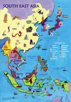 South East Asia Map   Mantralingua.com