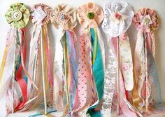 Fabric Fairy Flower Wand, Boho Wedding, Bouquet Alternative, Princess Birthday Party, Favor