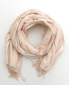 Nude Pink Scarf Pastel Scarf hand dyed Blush color by Schalrausch