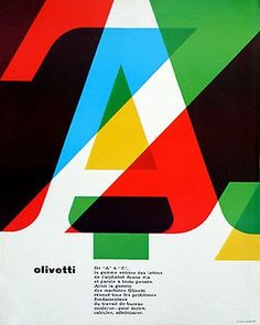 Walter Ballmer. Olivetti Poster. 1964.