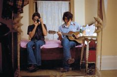"""Neal Casal and Ryan Adams, New York, 2005.  Photos from """"Ryan Adams and the Cardinals: A View of Other Windows"""". ROLLING STONE"""