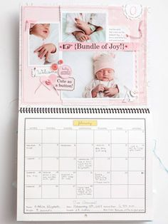 Baby Calendar. Want to do these when we have kids! (Notice...WHEN we have kids, not in 9 months!! Haha)