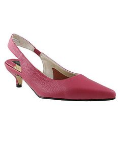 Take a look at this Fuchsia Pointed-Toe Slingback by Ros Hommerson on #zulily today!