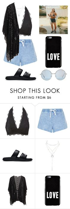 """doing things that i will not regret until the morning"" by jayseee ❤ liked on Polyvore featuring Charlotte Russe, New Look, NIKE and Givenchy"