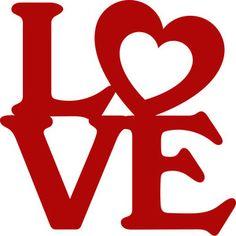 Silhouette Design Store - View Design #115500: love stack valentine