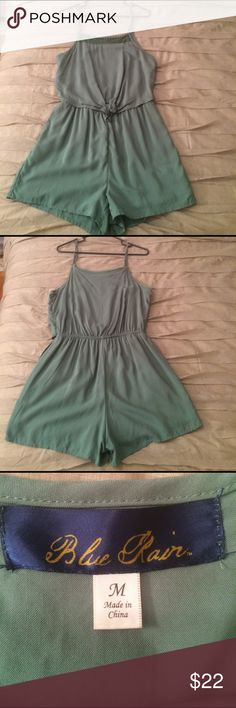Army Green Romper Mary green romper with small detail on the top. Thin adjustable straps and elastic waste band. Other