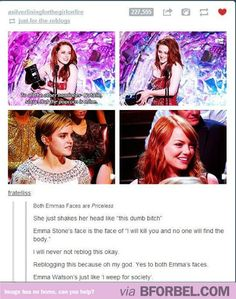 Emma Watson And Emma Stone's Reaction To Kristen Stewart…