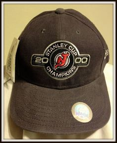 2000 NEW JERSEY DEVILS NEW ERA STANLEY CUP CHAMPIONS STRAP BACK CAP FREE SHIP #NewEra #NewJerseyDevils