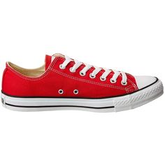 Converse Chuck Taylor All Star Core Ox (Red) Men's Classic Shoes ($50) ❤ liked on Polyvore featuring men's fashion, men's shoes, men's sneakers, converse mens shoes, mens shoes, g star mens shoes, mens red sneakers and mens red shoes
