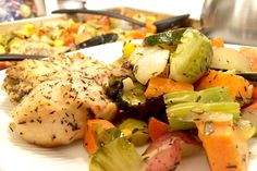Roasted Rosemary Chicken & Mixed Veggies | Baker Kella