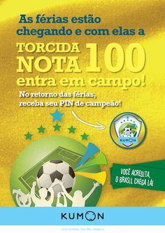 Cartaz Torcida Nota 100 - Kumon