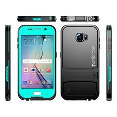 Galaxy S6 Waterproof Case, Punkcase SpikeStar Teal Samsung Galaxy S6 Thin Fit 6.6ft Underwater IP68 Shockproof Dirtproof Snowproof Case PUNKS6K004