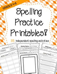 If you do independent spelling practice in your class then this product is exactly what you need! 35 practice printables that can be used over with any spelling list. This packed allows students choice in their word work. This packet includes many different activities that are sure to engage upper elementary/middle school students.