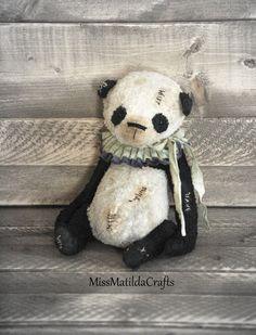 Panda Teddy Bear-Antique Style Teddy by MissMatildaCrafts on Etsy
