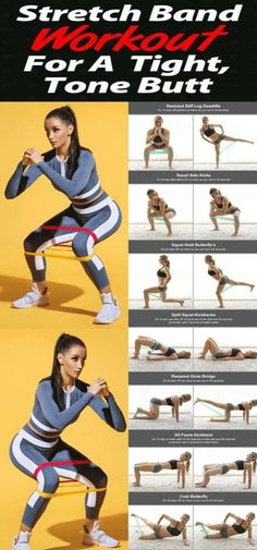 Band workouts are really great for targeting the muscles in the butt. That& - Mini Band Workout - Fitness Workouts, Gym Workout Tips, Pilates Workout, Workout Challenge, At Home Workouts, Fitness Motivation, Exercise Band Workouts, Band Workout For Legs, Exercise Routines