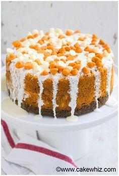 Pumpkin Cheesecake with Gingersnap Crust Recipe:   Mein Blog: Alles rund um Genuss & Geschmack  Kochen Backen Braten Vorspeisen Mains & Desserts!