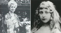 Agatha Christie's mother , Clarissa Miller, in Torquay before WWI, and Agatha Christie, nee Miller (1890-1976) as a child, date unknown.