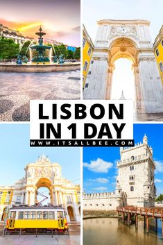 A detailed Lisbon 1 day itinerary with tips on places to visit, Lisbon food to check out, Instagrammable sights and attractions not to miss out on as well as best areas to stay in Lisbon. #trip #Traveltips #itsallbee #wanderlust | Lisbon Portugal Things To Do In | Lisbon Portugal Photography | Lisbon Itinerary 1 Day |  Lisbon Portugal Itinerary | Lisbon Portugal Photography | Lisbon Tiles | Lisbon Aesthetic | Lisbon Places To Visit | Best Places To Stay In Lisbon | 1 Day In Lisbon Portugal Vacation, Places In Portugal, Visit Portugal, Portugal Travel, Europe Travel Guide, Travel Guides, Lisbon Food, Portugal Holidays, European Travel