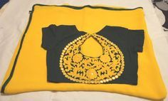 Yellow and black combination saree-blouse