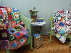 Heaven is granny crochet blankets.