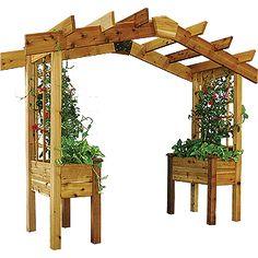 Cedar Pergola Kit W/ Planters