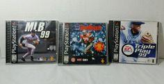 Lot of 3 Playstation 1 games Sports Lot MLB 99, Triple Play 99, NCAA Gamebreaker #psonegamelot