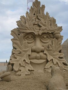 This sculpture, created by sculptor Justin Gordon, was made for a 2009 competition at Hampton Beach, New Hamphire.