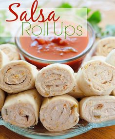 Tortilla Cream Cheese Salsa Roll Ups recipe from The Country Cook Roll Ups Recipes, Top Recipes, Mexican Food Recipes, Cooking Recipes, Recipies, Steak Recipes, Yummy Recipes, Dinner Recipes, Weight Watchers Lunches