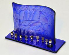c-GlassAngel-2013-Cobalt-Dichroic-Chopsticks-Fused-Glass-Menorah.jpg 800×640 pixels